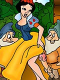 Snow White drilled in ass by Sneezy and gets off