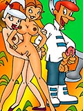 Jane gets tortured real deep by George Jetson and shares cum