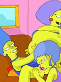 Curious Marge Simpson dominating and getting brutally plugged by tied wang