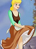 Cinderella showing her nipples and getting plugged by dick