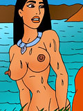 Pocahontas gets Aladdin's dick as gets her perfect slit railed