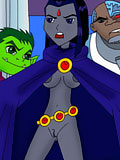 Lovely Blackfire sucks and takes hot cumshots