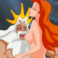 Ursula riding Prince Eric and fucked