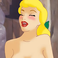 Drizella Tremaine strokes Lucifer and receives facial