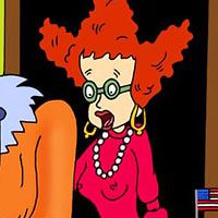 Susie Carmichael gives head to Chuckie Finster's wang then gets her nipples attacked