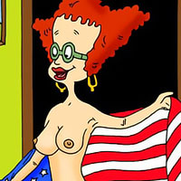 Lulu Pickles with juicy melons fingerbangs and takes Chuckie Finster's dong