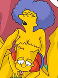 Mrs. Krabappel screams with passion and got nailed by horny Bart
