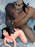 Mulan getting railed in her shaved hole and blasted with spermshots