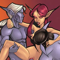 Draenei with sexy ass licking a cunt