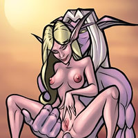 Nice Draenei with huge boobies getting abused and getting hard bent over by virgin Undead in the mens room