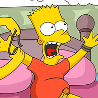 Lisa Simpson gets filmed and plugged