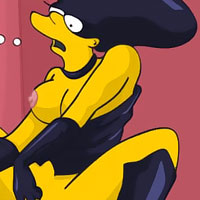 Lisa Simpson dominates and swallows jizz