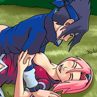 Angry Tsunade with great boobies takes cum facial