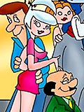 Virgin Judy Jetson gets double penetrated extremely by Henry Orbit's cock and comes at the park
