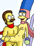 Melissa with great breasts spreads legs and loves Ned Flanders in dream