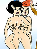 Betty Rubble gets assdrilled and blasted with jizz in the shower