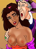 Esmeralda gets blasted in sperm and bursts climax