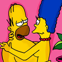 Samantha with perfectly shaped tits is filled by Milhouse Van Houten's dick