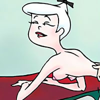 Jane Jetson was fucked in all her holes and sharing gooey cumshots