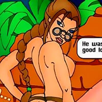 Cute Lara Croft was screwed and cums