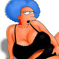 Marge showing striptease and getting penetrated real hard