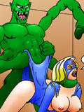Big bust Poison Ivy dominates and fucked by Henry's dick