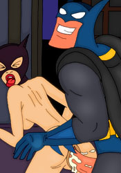 Talia al Ghul with perky bust watching porn tape and getting assdrilled by The Joker's thick wang