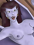 Seductive Demona getting drilled and cumming