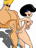 Boobed Bunny chokes on Johnny Bravo