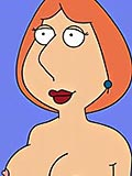 Meg Griffin with enormous candle swallows Tom Tucker and takes cumload