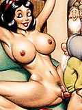 Luscious Snow White got her booty screwed by Dwarfs's tough dick and got mouthful of jizz in a garage