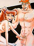 Megara strips to show off herself and gets screwed