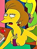 Sizzling Marge is ripped by kinky Dr Hibbert and receives facial blast 