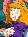 Daphne deepthroats and gets mouth jizzed 