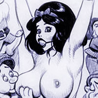 Wild Princess Snow White with double d breasts getting chased