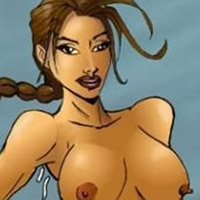 Cum craving Tomb Raider pumped between her sporting boobs by Distinguished Gentleman over and over