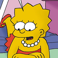 Lisa Simpson gets filled in her throat by erected dick and gets breasts soaked